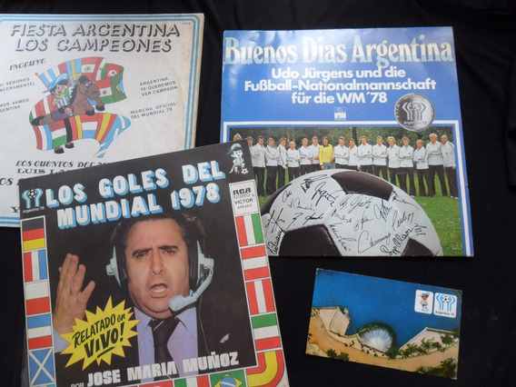 Futbol 3 Disco Vinilico Postal Mundial Argentina 1978 Lp