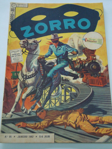 Zorro Nº 95 De 1962 Ebal Coleção Gibi Raro Antigo Excelente