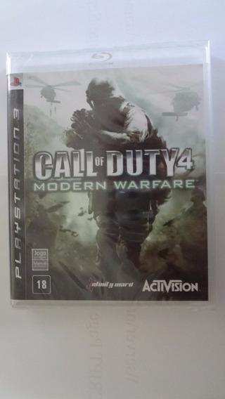 Call Of Duty 4 Modern Warfare Ps3 (black Label) Novo E Lacra