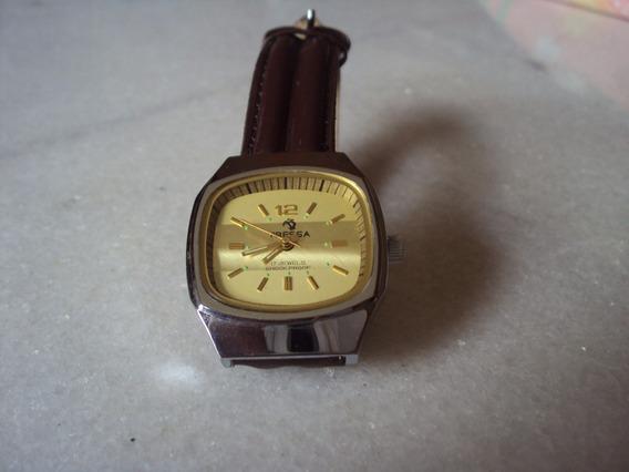 Relógio Suíço Tressa Pulseira Marrom