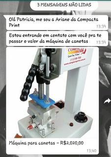 Máquina Estampar Canetas Compacta Print Nfe Manual 50canetas