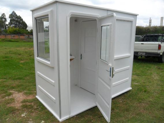 Guarita Com Banheiro Em Fibra De Vidro 1,20 X 2,40 X 2,20m