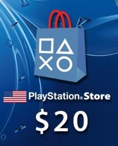 Psn Card - Playstation Network - Cartão 20 Dólares Imediato!