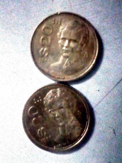 Moneda De Veinte Pesos Victroria 1985 Bronce 2