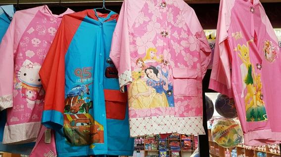 Impermeables Barbie Princesas Hello Kitty Ponchos Para Niñas
