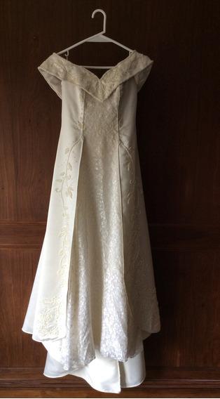 Vestido Novia Diseñado Por Gabriel Lage Bordado A Mano