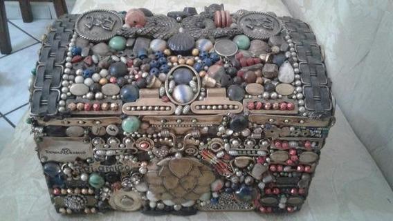 Porta Jóia Baú Decorativo Grande