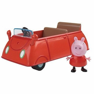 Auto Rojo + Figura Peppa Pig (15 Cm) A2007