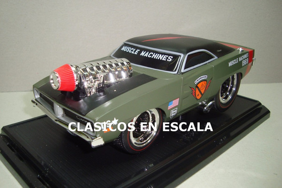 Dodge Charger R/t Drag Hot Rod - Maisto Muscle Machines 1/24