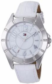 Lindo Relógio Feminino De Couro Branco