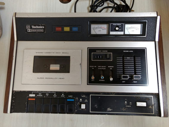 Techinics Stereo Cassette Deck Tape Fita K7