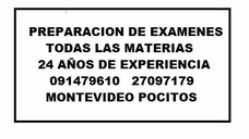 Clases Profesor Particular Matematica Fisica Quimica Examen