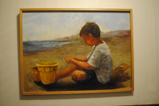 Oleo Enmarcado, Niño En La Playa