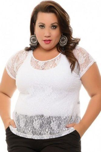 24cb15b71 Blusa De Renda Plus Size, Com Camiseta - R$ 39,90 em Mercado Livre
