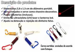 48 Lasers 3x1 Luz Negra Lanterna Testa Nota Falsa + Baterias