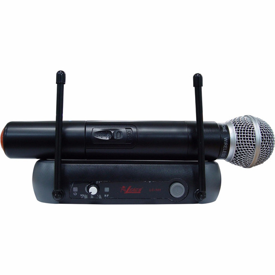 Microfone S/ Fio Lc 101 Vhf - Leacs Na Maxcomp Musical