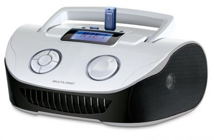 Boombox Mp3 Sistema De Som Portatil - Branca/preta - Sp183