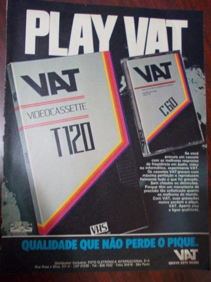 Propaganda - Vhs Videocassette Play Vat. Qualidade Que Não P