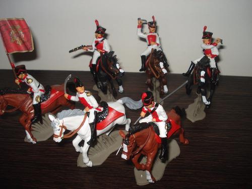 Set Soldados Españoles Realistas A Caballo 55mm Supertoys
