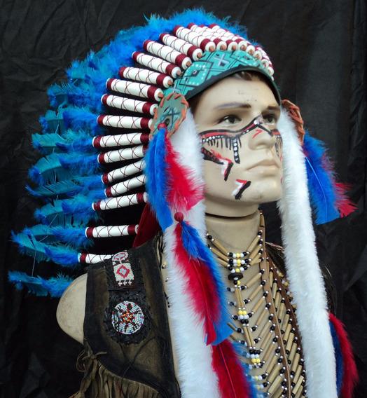 Cocar Indígena Apache-ceremonial Xamanismo