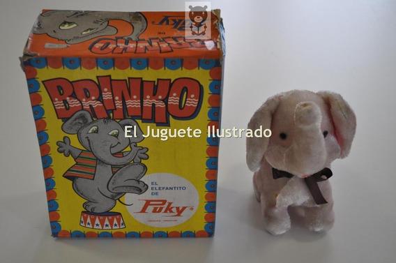 Elefantito Brinko A Cuerda Puky En Caja Ind Argentina C 1970