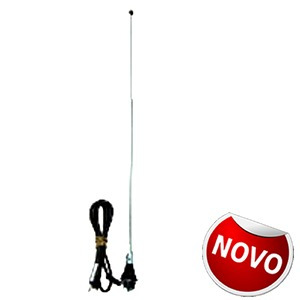 Antena Am E Fm 2 Estagios Cromada + Garantia + Mp + Nf + Me