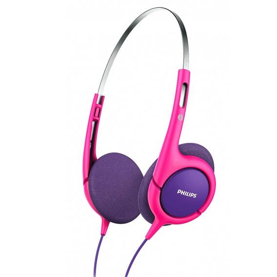 Fone De Ouvido Tipo Headphone P/crianças Roxo E Rosa Phillips