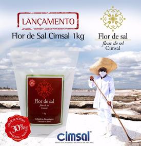 Flor De Sal Cimsal - 03 X 01kg - 100% Natural (03kg)