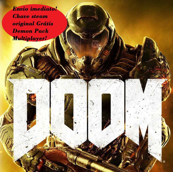 Doom 2016 Steam Pc Chave Oficial Dublado Br + Demon Pack