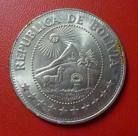 Bolivia Moneda 1 Boliviano Unc 1974