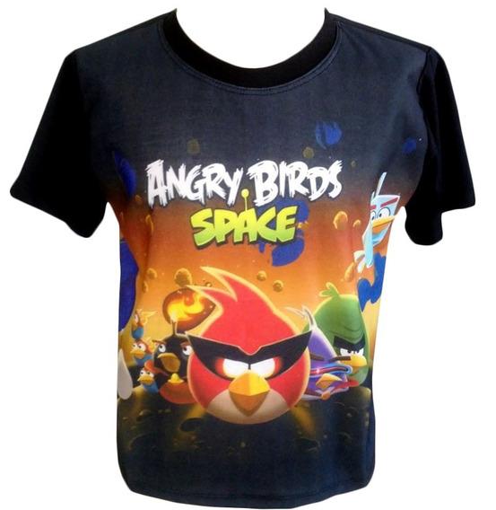 Camiseta, Regata, Baby Look - Angry Birds Space, Jogo