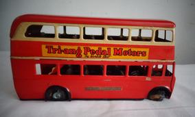 Ônibus Carrinho Tri.ang Lata Ingles Brinquedo Antigo N°2