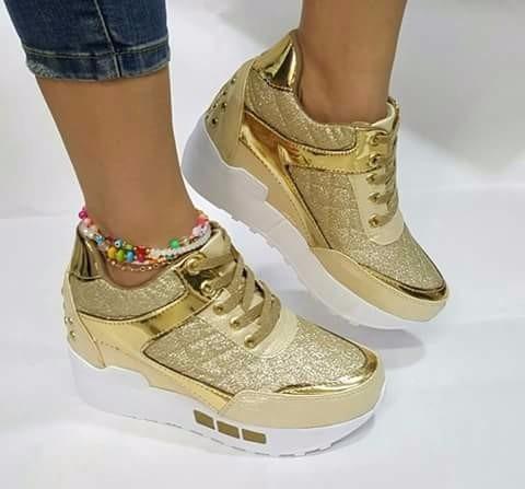 49779a51 Zapato Tenis Calzado Dama Mujer Hecho En Colombia Dorado - $ 62.100 en  Mercado Libre