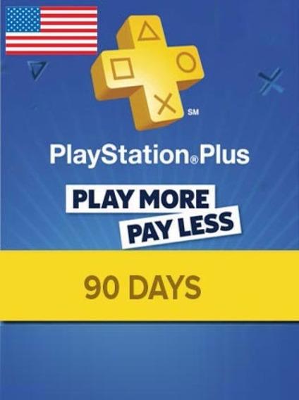 Cartão Psn - Playstation Plus 3 Meses Americano Us - Códigoo