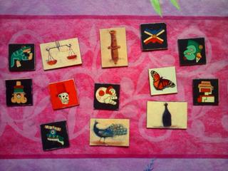 Lote De Imanes Miniatura Con Imagenes Prehispanicas O Mayas
