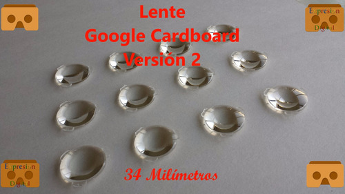 Imagen 1 de 5 de Lente Google Cardboard V2 - 1 Par,d34mm*f39.3mm