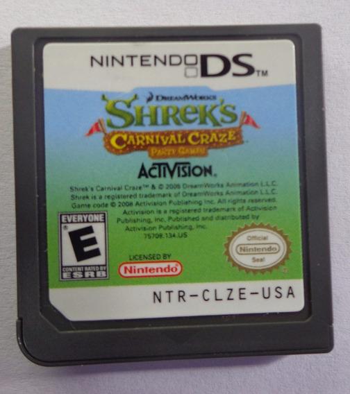 Shreks Carnival Craze Party Games Nintendo Ds Original