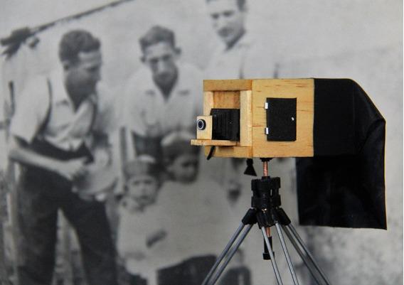 Miniatura Camera Fotografica Lambe Lambe - Modelo Anos 30