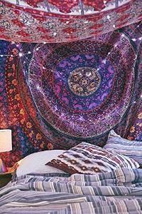 Indian Pared Hanging Hippie Mandala Tapiz Bohemia Colcha Étn