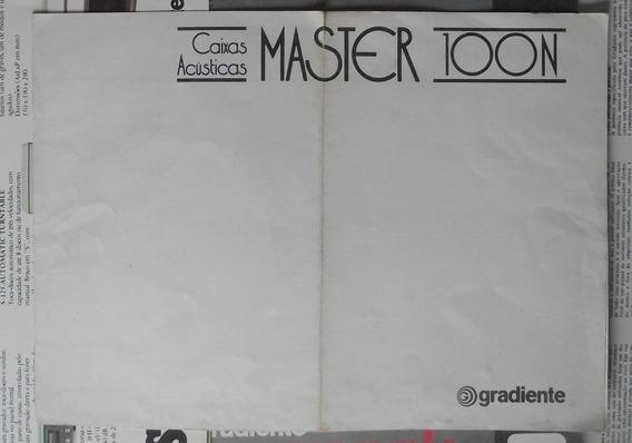 Caixas Master 100n Manual Original