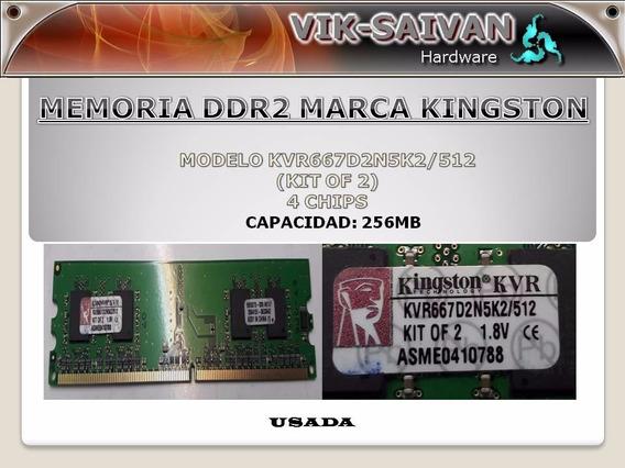 Memoria Ddr2 Kingston De 256mb Pc2-5300 667mhz 4 Chips 16