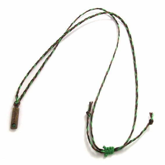 Colar Unissex Amuleto Da Esperança Pingente Com Strass Verde