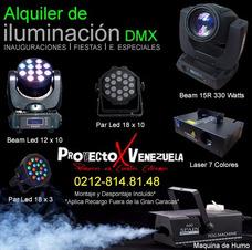Alquiler De Iluminación Profesional Led Dmx Rgb Laser Humo
