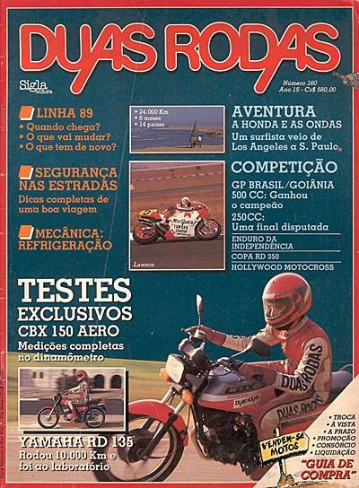 2r.160 Dez88- Honda Cbx150 Aero Yamaha Rd135 Refrigeração