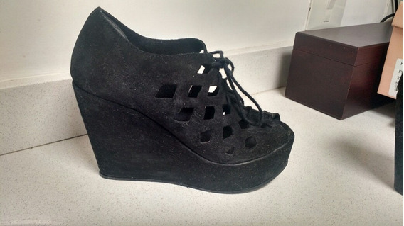 Zapatos Talle 37 47street Impecables Gamuza Negra