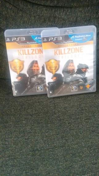 Killzone Trilogy Ps3 Mídia Física Semi Novo Com Dlc¨s