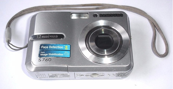 Câmera Samsung S760 Prata Para Retirada De Peças