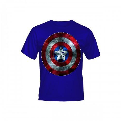 Camiseta - Poliéster Estudo Capitão América