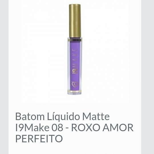 Batom Líquido Matte I9 Make 08- Roxo Amor Perfeito
