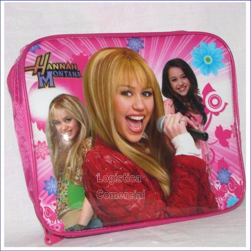 Lonchera Princesas Disney Hannah Montana + Termo + Recipient